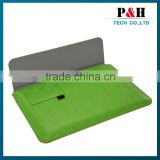 Gird Pattern Soft Inner Bladder Leather Sleeve Pouch Bag for iPad 5 IPad 6Black