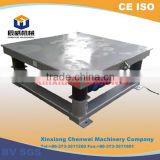 China gold supplier new sign high frequency horizontal vibration table for concrete moulds