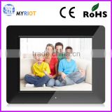 Rectangle shape plastic or acrylic 8 inch digital photo frame