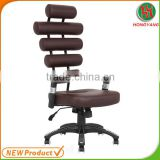 Adjustable Armrest Conference Computer Chair PU Leather Factory