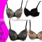 Fringed Bra, Tassels Bra, Belly Dance Bra M915