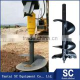 Post Hole Digger For Sale /Earth Auger SC3500 For 2T-3.5T Excavator DOOSAN DH220 For Foundation Drill