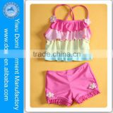Domi 2014 new arrival small girl swimsuit girls hot sexi image swimwear / wholesale children's boutique clothing