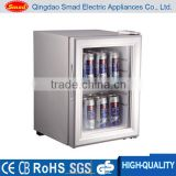 Mini bar cooler showcase,mini glass door display fridge