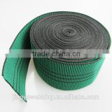 factory wholesale green rubber PP yarn elastic sofa webbing