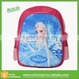 Stereoscopic 3D Frozen cartoon Elsa pattern School bag 600D Polyester Kids School Backpack