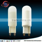 2015 New Arrival G9 led bulb 220-240V 2.5w pc+aluminum lamp body 2700K led lamps dimmable