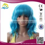 2014 New fashion style customizable ladies glueless blue wig