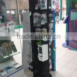 cell phone accessory display stand/mobile phone chargers display stand/opi nail polish display rack