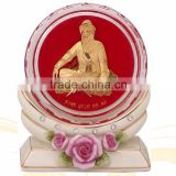 crystal paper weight inside 3d gold foil saibaba design selling in cheap price