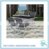 Steel folding dining table set, metal folding dining table and chair set, glass folding dining table and chair set