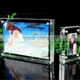 China suppler factory price rectangel shape acrylic plexiglass acrylic photo frame for sell