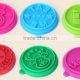 2016 trending products custom silicone cookies stamp