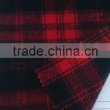 WOOL PLAID FABRIC multi colour check wool fabric for woman garments ,Red Plaid overcoating