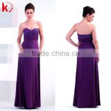 Sexy Custom Made Floor Lenghth BeadsPurple Alibaba Bodycon Evening Dresses New Fashion 2014