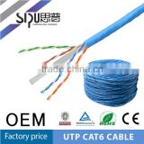 SIPU high quality Fluke test copper cat6 network cable utp lan cable cat6 wholesale 4 pair utp cat6 network cables 305m