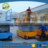 Hot !2016 CE ISO 12.7M Battery Self Propelled Scissor Lift platform man lift battery for aerial working man lift