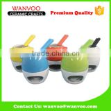 China Hot Sale Mini Ceramic Chocolate Fondue Pot