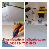 Coroplast sheet for temporary floor surface membrane protection plastic material