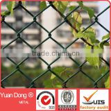Chain link fence/chain link fencing/chain link mesh/ galvanized & PVC coated chain link fence