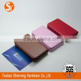 luxury credit leather material card holder with magnet closure switch manufacturer wholesale