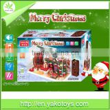 Assembled houses diy Christmas house model for kids,easy assembly wooden house