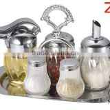 spice tool glass spice jar set for metal holder rack