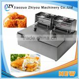 2016 Hot Popular Commercial Electric 6L Double Pan Fryers Deep Fryer With Stainless Steel(whatsapp:0086 15039114052)