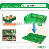 supermarket plastic foldable vented vegetable container
