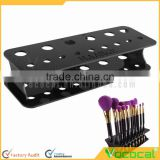 15-Hole Acrylic Black Cosmetic Makeup Brush Toothbrush Shaped Brush Display Holder Stand Organizer