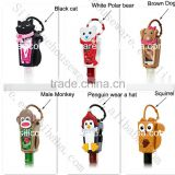 New innovative product 3d animal shaped hand sanitizer silicone holder for promotional gifts