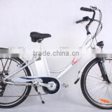 hot selling popular 26inch electric bicycle 250W electric city bike for ladies with lithium battery