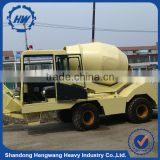 Portable off-road self-loading concrete mixer truck price in china factory