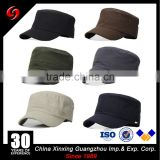 China factory custom high quality blank flat top military cap/Military Baseball Hats Caps