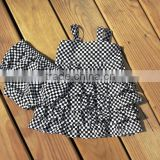 Latest Newborn Baby Clothes Outfits Baby Girls Summer Gingham Ruffle Dresses With Underwear Set Clothes Outfits