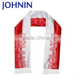 OEM Professional 16x140cm All Countries Custom Design Heat Transfer Printing Bright Satin Fan Scarf