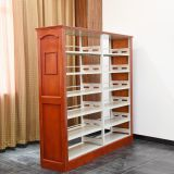 Wooden Steel Double Sided Library Bookshelf