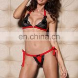 Beauty's Love Sexy Lingerie Lace Bra and Open Back Thong Set Women Sexy Bra Penty 30014