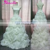 Flower Skirt Ball Gown Wedding Dresses Pictures