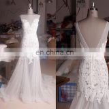 Elegant Sexy Mermaid Backess Beach Summer Bohemian Wedding Dress