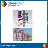 American flags Pole Sign Hanging Banner
