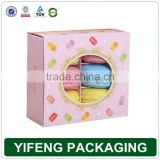 High quality food packaging fashion design boxes with pvc window paper cardboard cookie gift box