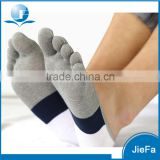 comfortable combed cotton silica gel five fingers toes boat no show socks                                                                         Quality Choice