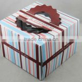 cheap paper cake box, cake box with window and handle