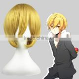 High Quality 35cm Short Straight Black Butler Cosplay Hair Wigs Belphegor Blonde wigs Synthetic Anime Cosplay Wig Party Wig