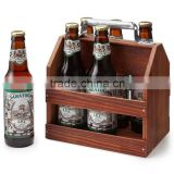 Wholesale Wooden Beer Bucket, Cheap Wooden 6 Pack Bottle Beer Carrier, Wooden Beer Bottle Holder