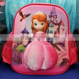 sofia 3D school bags spiderman 3D bags for school backpack frozen elsa and anna 3 pictures