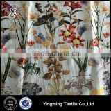 Wholesale Flower designed Jacquard Printed Organza Fabric for fashion garments,dress,skirt,wedding