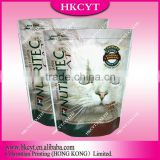 Pet cat food packaging bag with ziplock/Stand up cat food packaging bags/customized design animals food packaging bag
