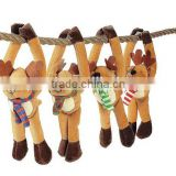 Xmas 45cm Plush Long Arm Reindeer with Velcro Hoofs/Stuffed Reindeer for Christmas Gifts